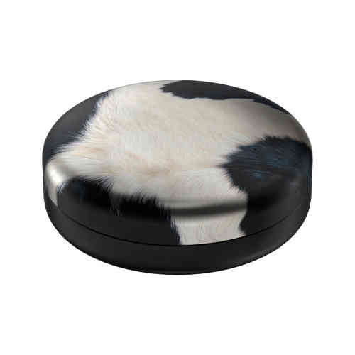 Cowhide tin box round