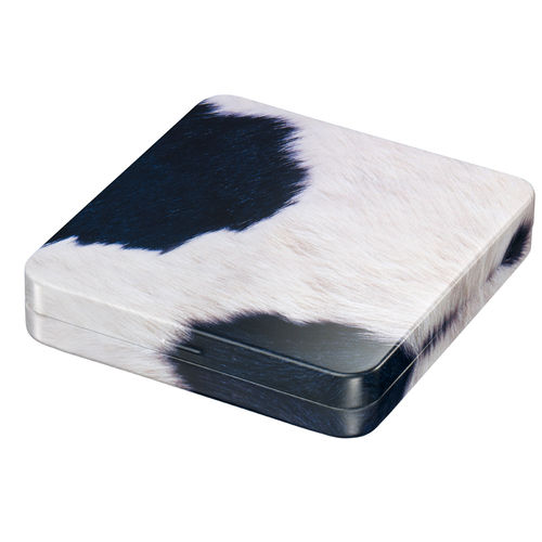 Cowhide tin box