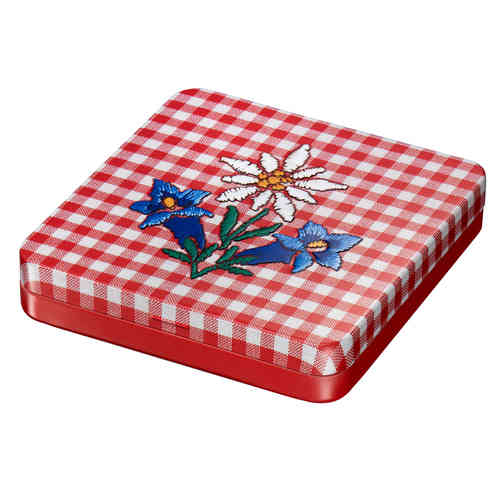 Edelweiss checkered  tin box