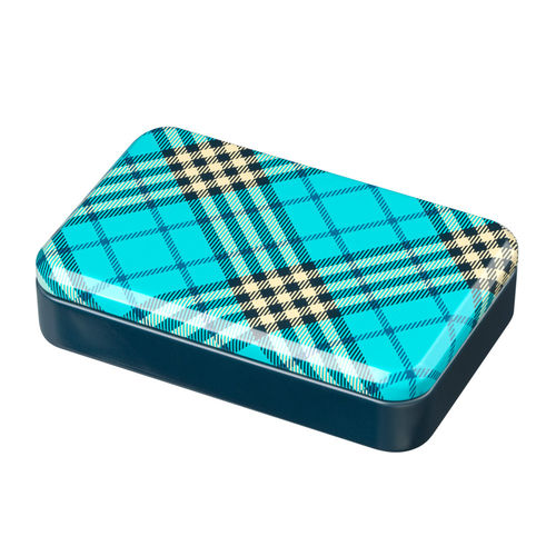 Blue Burberry tin box