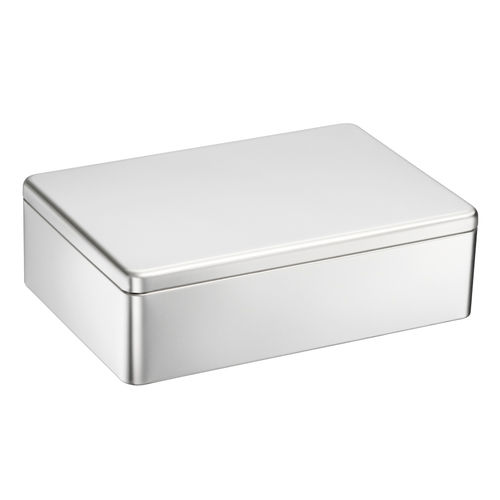 Printable tin box XXL silver